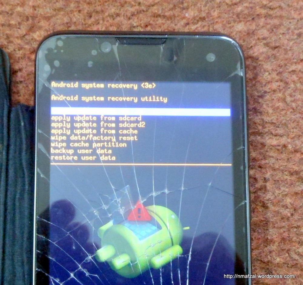 How to Factory reset your (Android) Q Mobile if touch-screen is