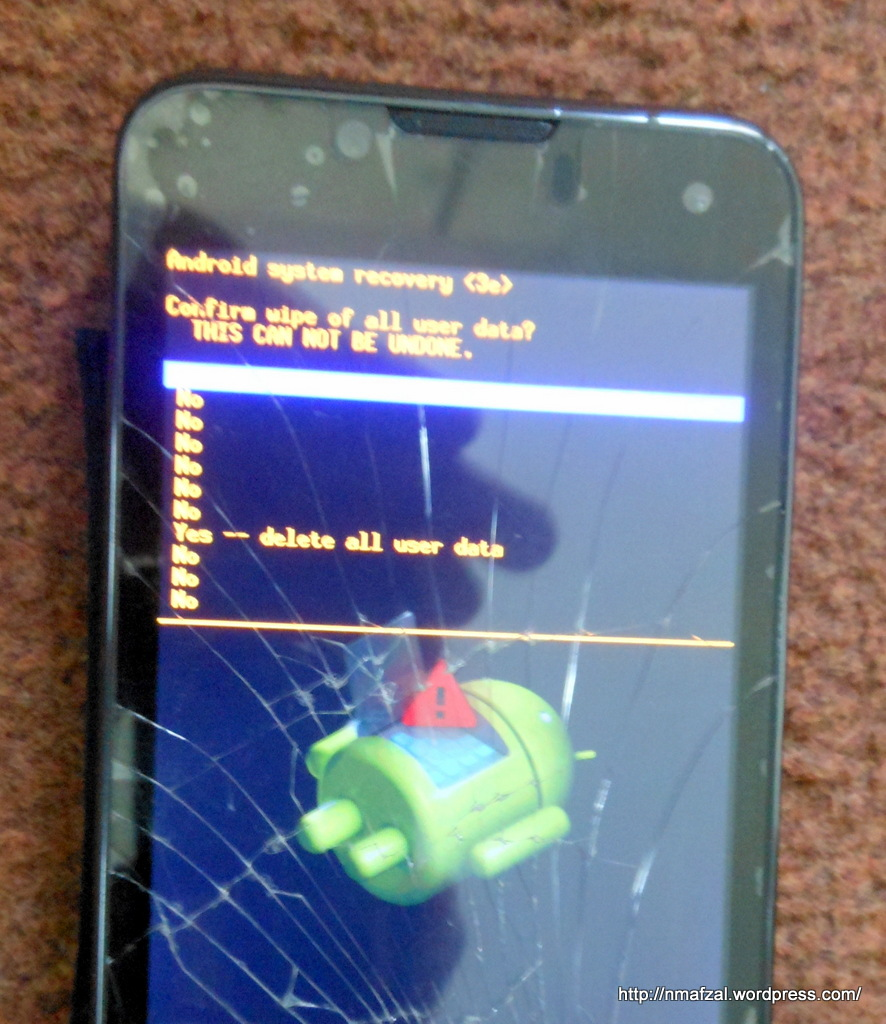 How to Factory reset your (Android) Q Mobile if touch-screen