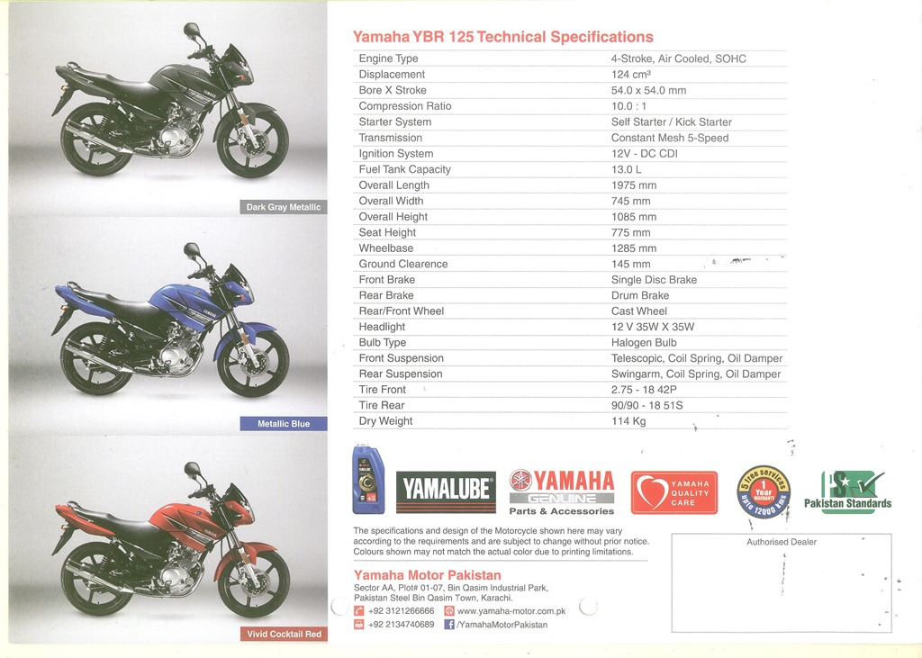 Yamaha YBR 125 : Short Review – My Random Ramblings